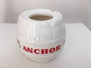 Anchor Beer Barrel Porcelain Ashtray