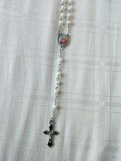 🚚 New carholic rosary handmade black crucifix