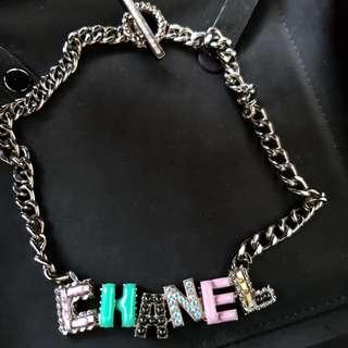 Rtp$1530 Chanel Choker Necklace Crystal Chain