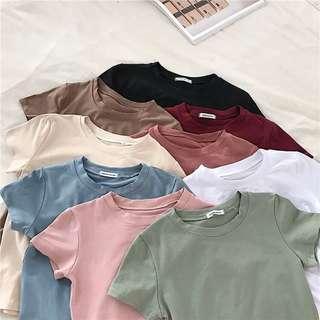 🚚 BNIP basic baby crop tshirt