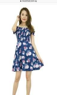 Amber Cold Shoulder Fit And Flare Dress