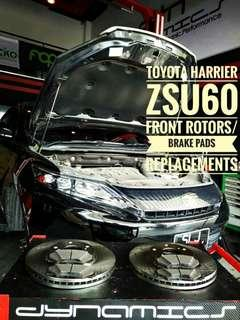 Toyota Harrier : OEM Front_Rotors / Brake_Pads replacements