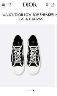 Dior sneakers walk'n'dior