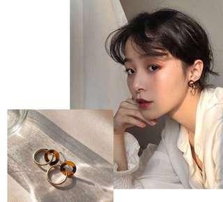 [NEW] Korean Retro Round Circle Shape Casual Workwear Statement Earring Jewelry Accessories Women Earrings