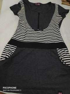 Gray BUM shirt / skirt