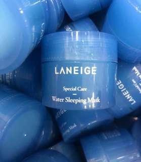 [包平郵] Laneige Water Sleeping Mask Laneige 皇牌產品水亮補濕睡眠面膜15ml