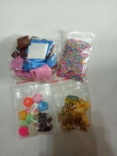 (dm if interested)charms foam squares and sprinkles