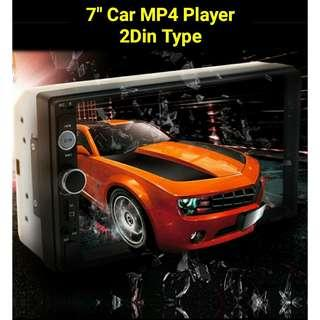 "7"" Car 2Din Type  Mp4 Mp3 Player (New)"