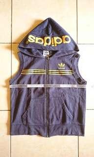 Adidas Original Zipper Vest Hoodie NAVY