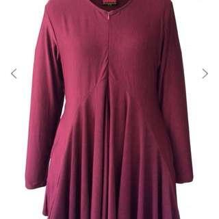 Calaqisya dinah blouse maroon l/xl