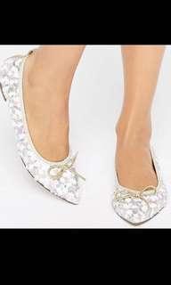 🚚 RTP $33 ASOS Lulu Pastel Sequin Ballet Flats