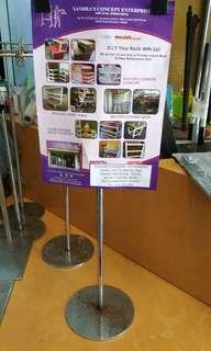Price List Clip With Stand ( 3 Unit  In 1 Price )