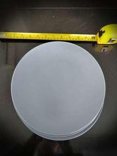 Three grey IKEA stone plates