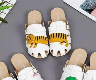Soft PU leather Tiger Sandals / Slip ons / Shoes