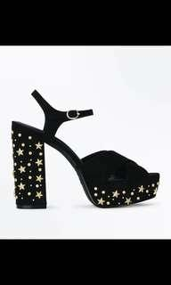 🚚 RTP $64 New Look Star Detail Heeled Sandal