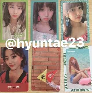 [WTT] TWICE Summer Nights and YES or YES photocards
