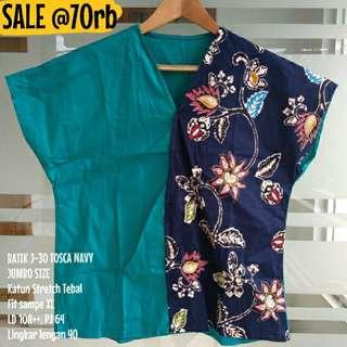 SALE [NEW] BLOUSE BATIK WANITA J-30 TOSCA NAVY