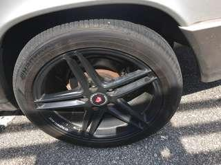 Vossen 17 inch wheels with hankook tires