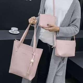 🚚 3 in 1 Pink Bag