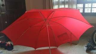 Premium Large Red Umbrella