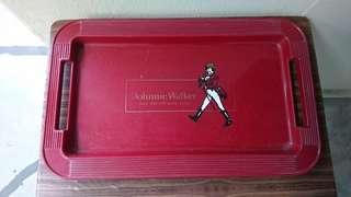 Vintage Johnny Walker Plastic Tray
