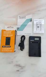 Neewer USB Battery Charger for Sony, Panasonic & JVC