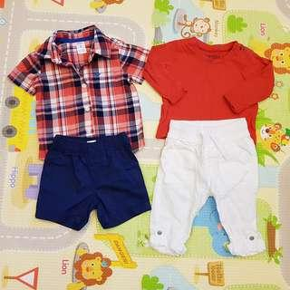 Baby boy clothes Carters mothercare 6M