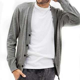 H&M Grey V Neck Cardigan