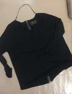ZARA T SHIRT SPECIAL EDITION WITH ZIPPER BACK