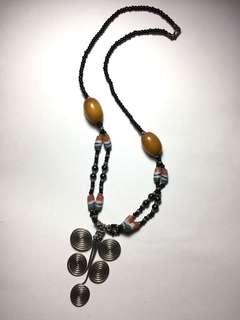 Ethnic statement necklace
