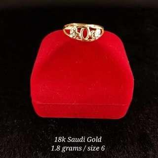 18K Saudi Gold 1.8Grams Women Ring