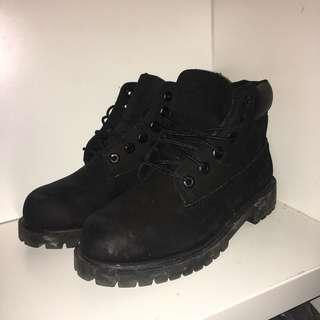 Black Timberlands Size 2Y/5 Women's