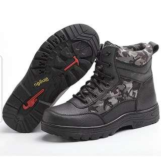 BN Camo Prints Black Steel Toe Safety Boots