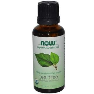 [Ready Stock] Now Foods Solutions 100% ORGANIC Pure Tea Tree Oil Melaleuca 30ml