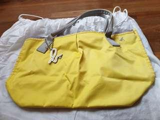 Authentic Agnes B Yellow Tote Bag