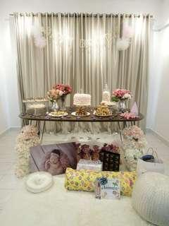 Used DIY Party Decorations (Gold & Pink)