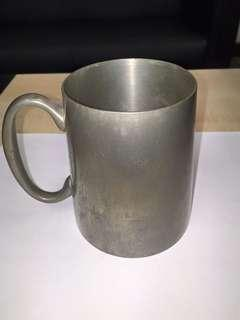 TANKARD 4.5 in hight and 5 in wide , MALAYAN PEWTER WORK