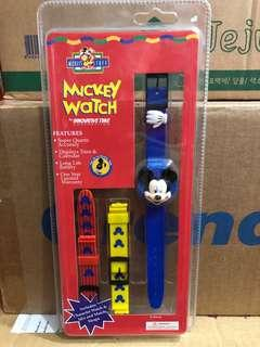 BNIP! Mickey Mouse Character Watch with mix and match straps