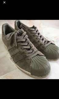 Adidas originals superstars 80's trainers in green