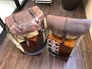 Wotancraft - Avenger Leather and Waxed Canvas Camera Bag