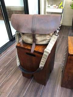 Wotancraft Messenger Leather and Waxed Canvas Camera Bag