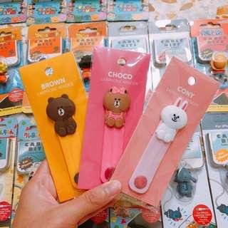 Instock Cable Tie Line Friend Brown Cony IPhone Samsung Huawei Oppo