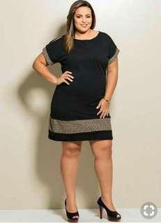P350 NEW ARRIVAL PLUS SIZE FIT TO XL DRESS