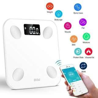 0097_Diki Electronic Smart Scale (8 Data Components, Weight, Muscle, BMI, Bone Mass, Fat, Mositure, Visceral Fat, BMR)