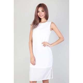 MGP Label Kaila Midi Shift Dress in White