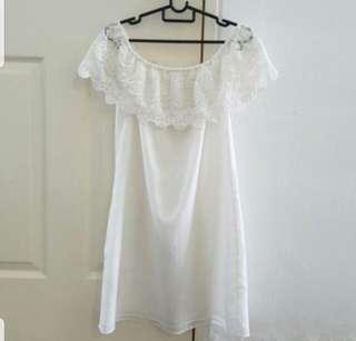 ZARA Off White Dress Small