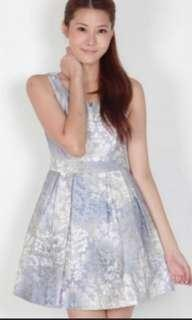 Pearlavish baroque print ombre dress