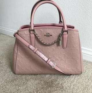 Coach Margot Small Carryall Signature Debossed Blush Pink