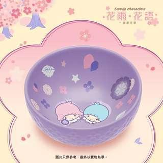 7-11 Little Twin Stars繡球花花形陶瓷碗(淺紫色)