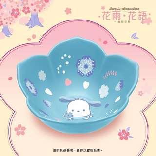 7-11 Pochacco粉蝶花花形陶瓷碗(深藍色)